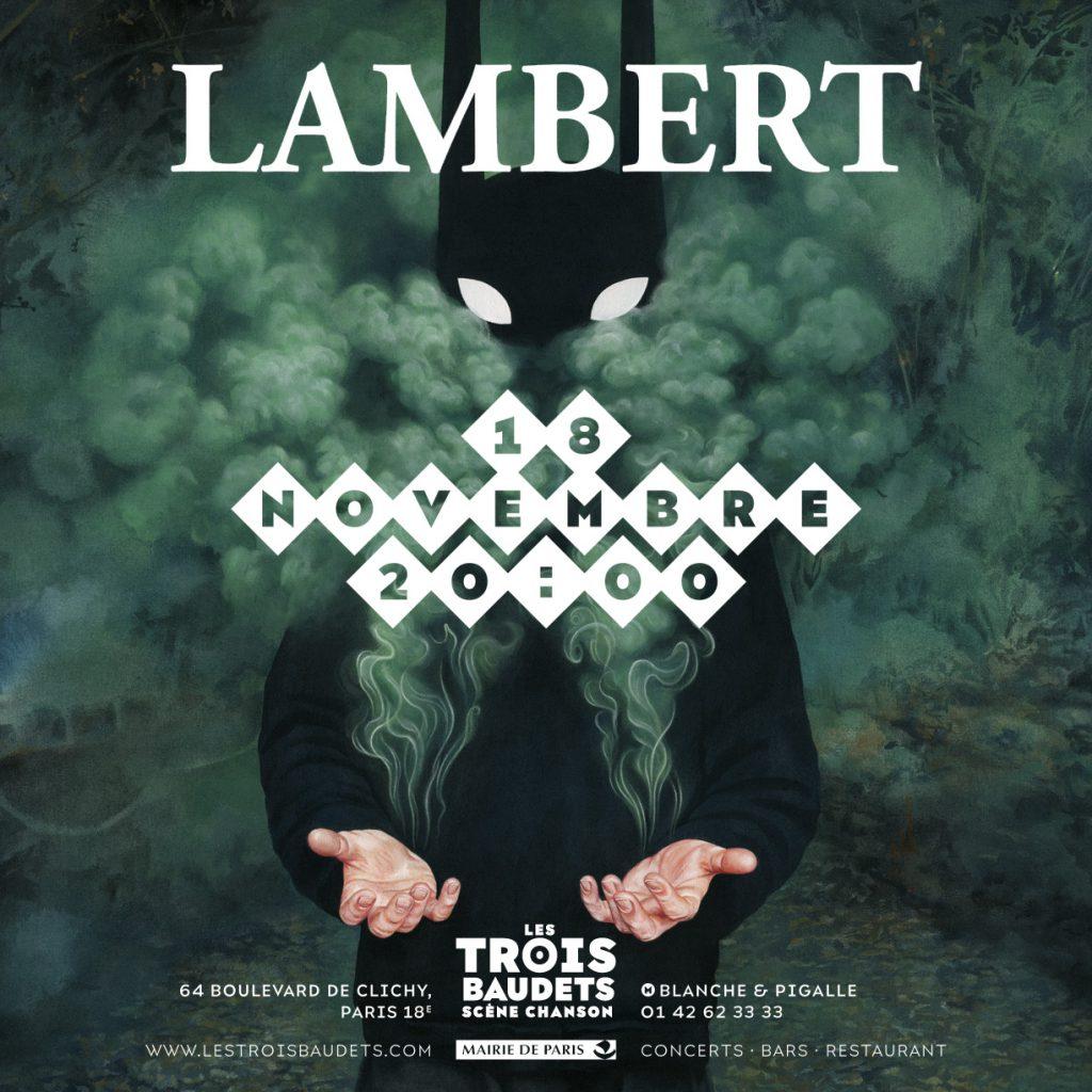 Lambert en concert le 18 novembre aux Trois Baudets